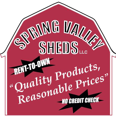 Spring Valley Sheds Sign - Quality Products, Reasonable Prices