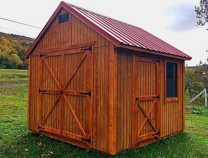 Treated shed